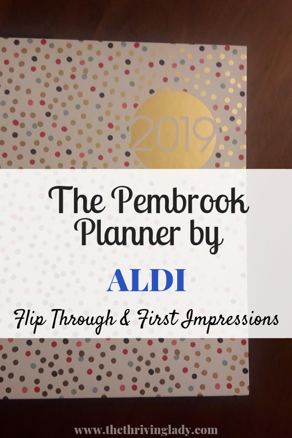 The Pembrook Planner by ALDI
